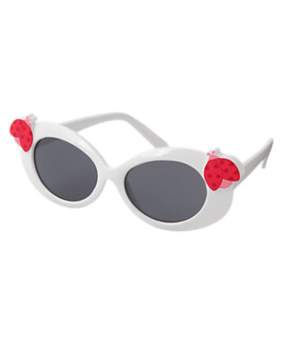 Girls White Ladybug Sunglasses by Gymboree