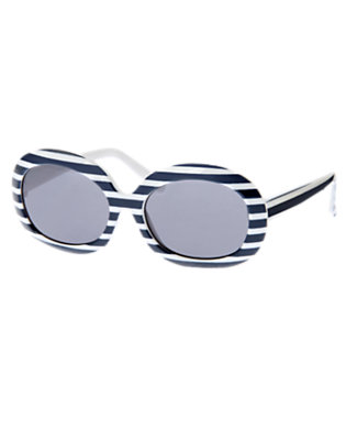Girls Nautical Navy Stripe Stripe Sunglasses by Gymboree