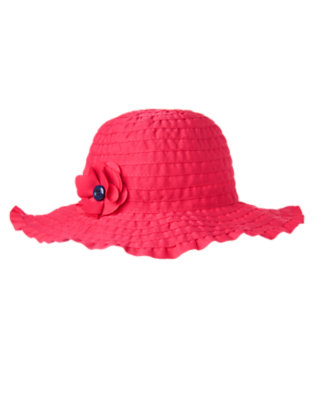 Girls Poppy Pink Poppy Sunhat by Gymboree
