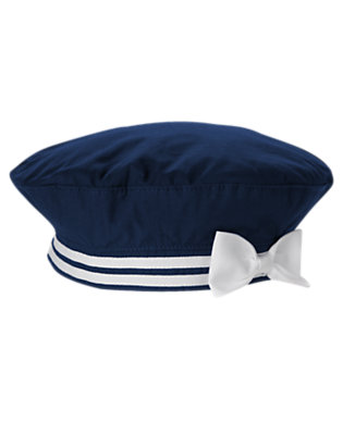 Nautical Navy Bow Beret by Gymboree