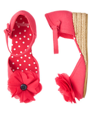 Girls Poppy Pink Poppy Espadrille Sandal by Gymboree