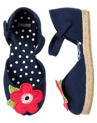 Toddler Girls Nautical Navy Poppy Espadrille Sandal by Gymboree