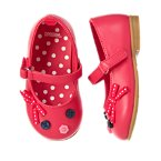 Button Bow Ballet Flat