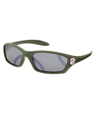 Boys Olive Green Baseball Sunglasses by Gymboree