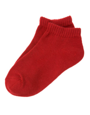 Toddler Boys Baseball Red Ankle Sock by Gymboree