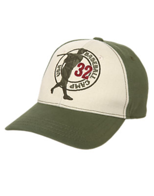 Olive Green Baseball Camp Cap by Gymboree