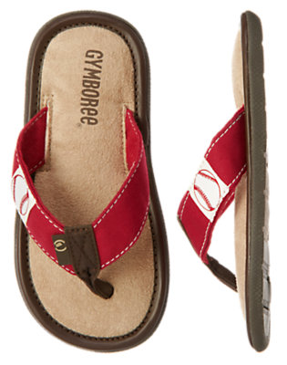 Boys Baseball Red Baseball Flip Flop by Gymboree