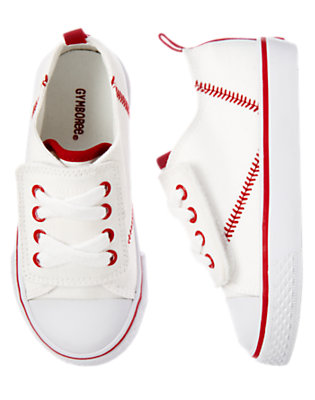 Toddler Boys White Baseball Sneaker by Gymboree