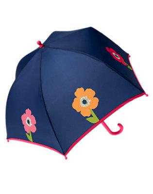 Girls Nautical Navy Poppy Umbrella by Gymboree