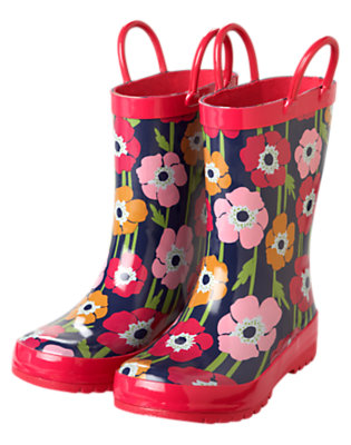 Navy Poppy Poppy Rainboot by Gymboree