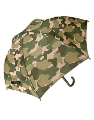 Boys Olive Green Camo Camo Umbrella by Gymboree