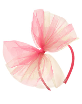 Girls Bright Pink Tulle Headband by Gymboree