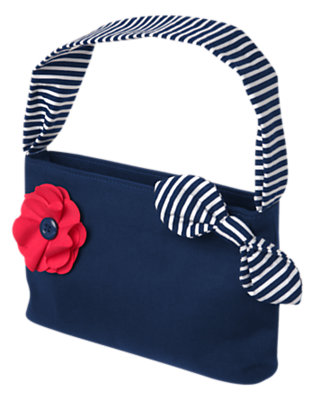 Girls Nautical Navy Poppy Stripe Purse by Gymboree