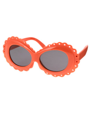 Girls Orange Spice Scalloped Sunglasses by Gymboree