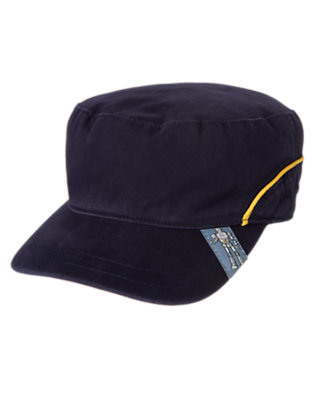 Boys Midnight Blue Cadet Cap by Gymboree