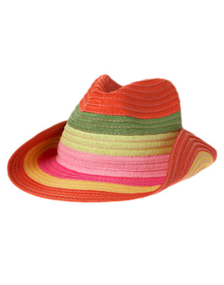Girls Fern Green Stripe Stripe Straw Hat by Gymboree