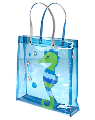 Girls Seahorse Blue Gem Seahorse Tote Bag by Gymboree