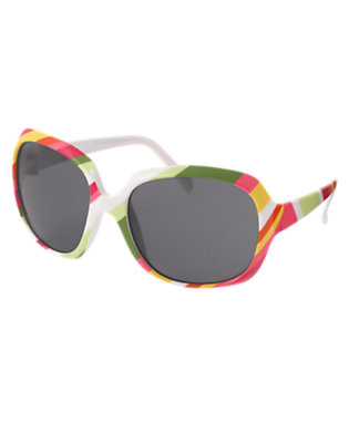 Girls Fern Green Stripe Stripe Sunglasses by Gymboree