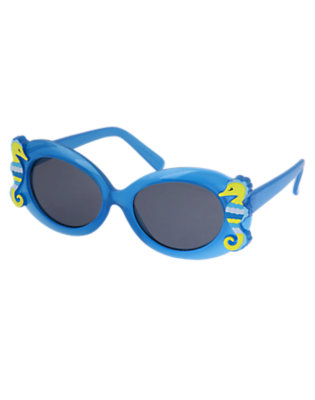 Girls Seahorse Blue Seahorse Sunglasses by Gymboree