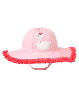 Toddler Girls Swan Pink Swan Tulle Sunhat by Gymboree