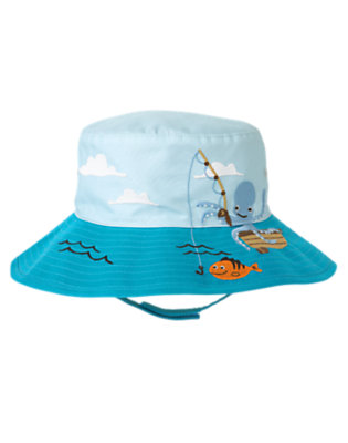 Pool Blue Octopus Swim Hat by Gymboree