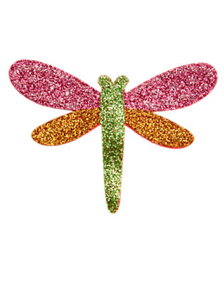 Girls Hydrangea Pink Glitter Dragonfly Hair Clip by Gymboree