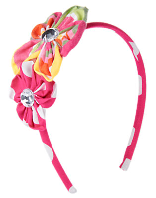 Girls Tulip Pink Gem Flower Headband by Gymboree
