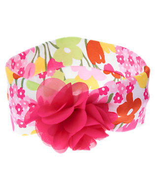 Girls White Floral Flower Corsage Headband by Gymboree