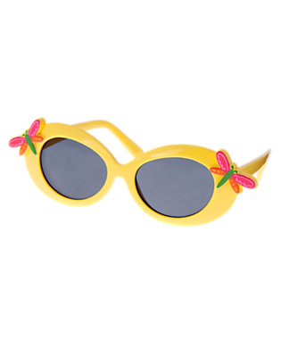 Girls Buttercup Yellow Dragonfly Sunglasses by Gymboree