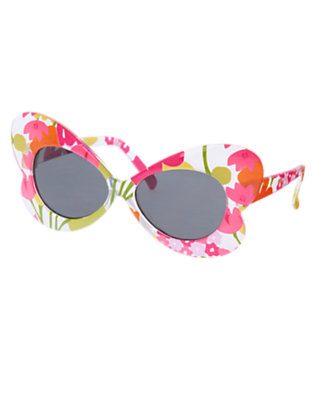 Girls Tulip Pink Floral Flower Sunglasses by Gymboree