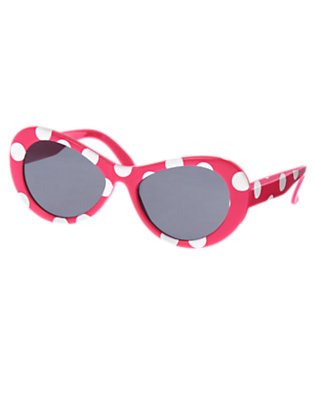 Girls Dark Pink Dot Dot Sunglasses by Gymboree