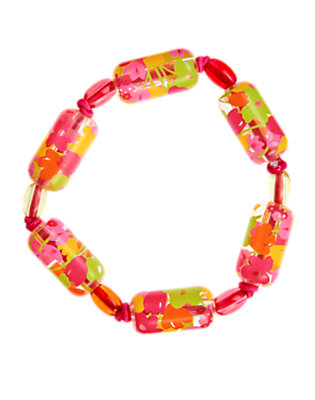 Girls Tulip Pink Flower Bead Bracelet by Gymboree