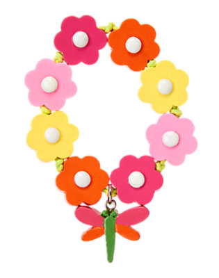 Tulip Pink Dragonfly Flower Bracelet by Gymboree