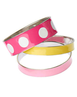 Tulip Pink Enameled Bangle Bracelet Three-Pack by Gymboree
