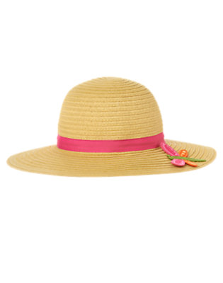 Girls Straw Dragonfly Straw Sunhat by Gymboree