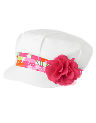 Girls White Flower Corsage Hat by Gymboree