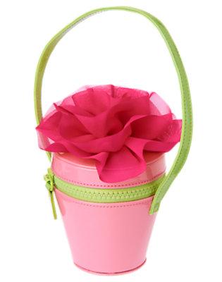 Girls Hydrangea Pink Flowerpot Corsage Purse by Gymboree