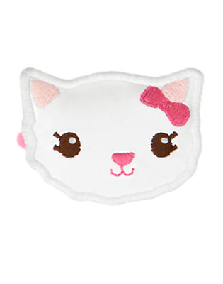 White Kitty Hair Clip by Gymboree