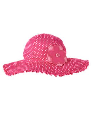 Toddler Girls Tulip Pink Dot Flower Dot Ruffle Sunhat by Gymboree