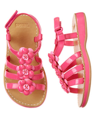 Toddler Girls Tulip Pink Gem Flower Sandal by Gymboree