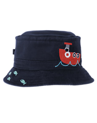 Toddler Boys Midnight Blue Tugboat Bucket Hat by Gymboree