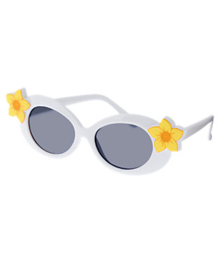 Girls White Daffodil Sunglasses by Gymboree