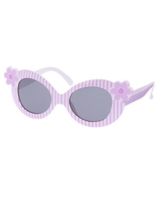 Girls Purple Posy Violet Stripe Sunglasses by Gymboree
