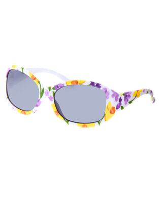 Girls White Violet Violet Daffodil Sunglasses by Gymboree