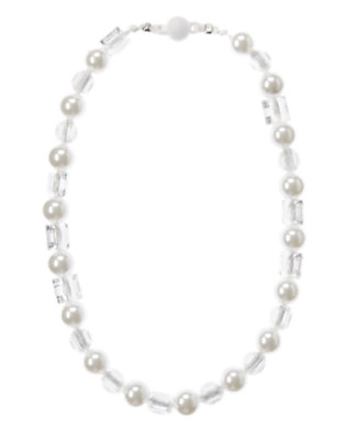 Girls Pearl Gem Pearl Necklace by Gymboree