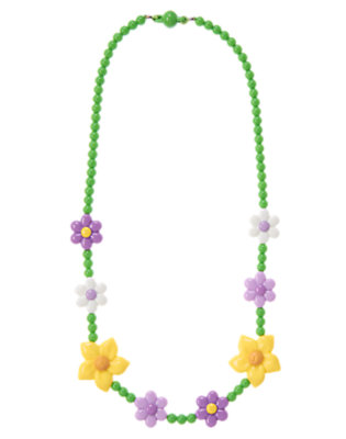 Girls Daffodil Yellow Daffodil Violet Necklace by Gymboree