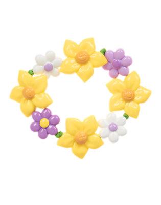 Daffodil Yellow Daffodil Violet Bracelet by Gymboree