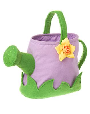 Girls Purple Posy Daffodil Watering Can Purse by Gymboree