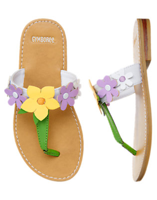 Spring Green Flower Flip Flop Sandal by Gymboree