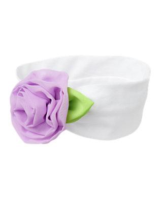 White Rosette Headband by Gymboree